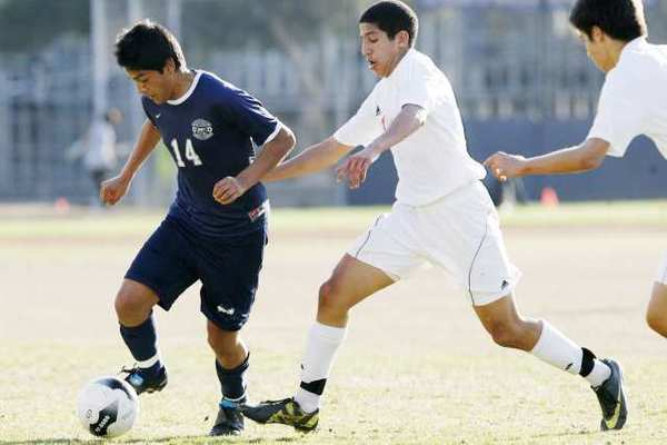 ARCHIVE PHOTO: Flintridge Prep's Manny Perez, left, and Pasadena Poly's Ali Kamal are both All-Area players.