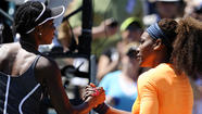 CHARLESTON, S.C. (AP) — Serena Williams routed Venus Williams, 6-1, 6-2, in the semifinals of the Family Circle Cup on Saturday at Charleston, S.C.