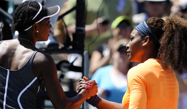 Serena Williams, right, defeated older sister Venus, 6-1, 6-2, Saturday in the Family Cup Circle semifinals and take a 14-10 lead in the sibling rivalry.