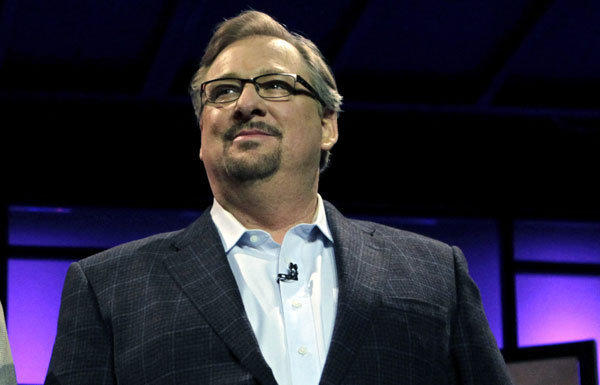 Rick Warren is seen at Saddleback Church in Lake Forest in 2010.