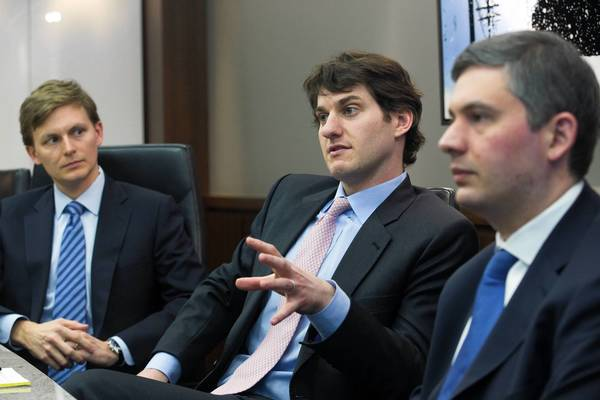 Travis Lenkner, from left, Adam Gerchen and Ashley Keller are the principal executives of Gerchen Keller Capital, a new firm launching Monday that plans to finance lawsuits.