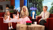 Ellen DeGeneres and Nicki Minaj with British girls