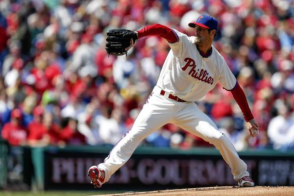 Phillies starting pitcher Cole Hamels had another rough outing in his second start of the season.