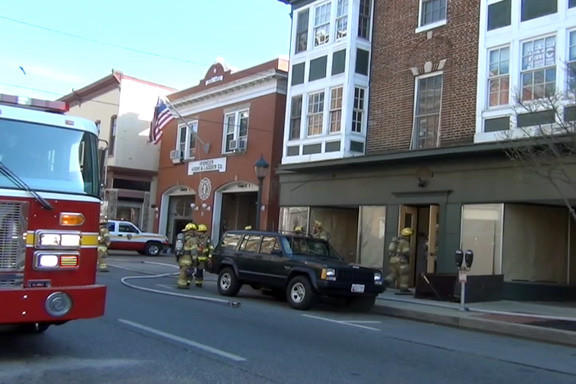 Hagerstown firefighters responded to 25 1/2 W. Franklin St. at about 4:45 p.m. Sunday to a report of smoke in the building.