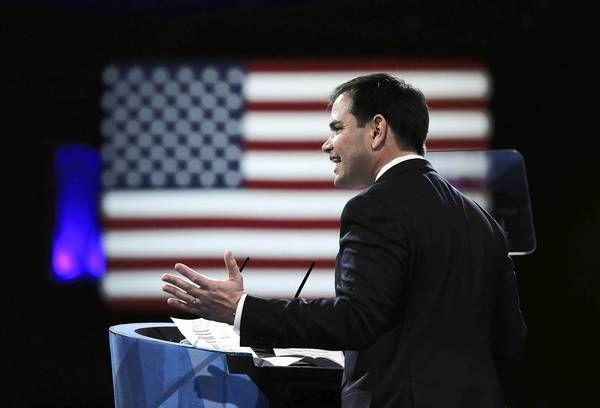 Sen. Marco Rubio (R-Fla.) addresses the Conservative Political Action Conference in March. His role in immigration reform could boost a possible presidential bid, although many tea party conservatives oppose plans that are emerging.