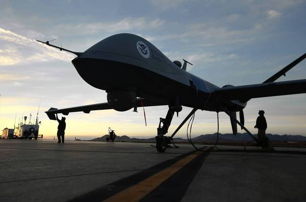 A Predator drone in Arizona near the border with Mexico.