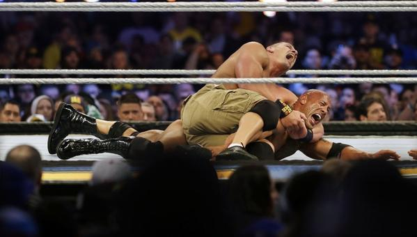 John Cena defeated The Rock at WrestleMania 29.