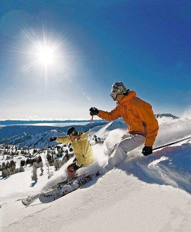 Skiers at Squaw Valley, Lake Tahoe Ski Resort, Calif.