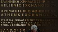 ATHENS – Fears concerning Greece's efforts to fix its faltering economy flared anew Monday as bank shares sank 30% -- the maximum allowed in a day -- after plans to merge the country's two biggest lenders were suddenly frozen.