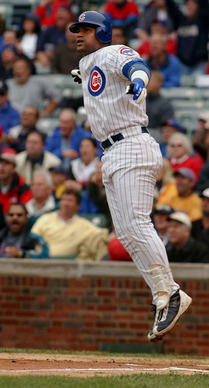 Yup. Slammin' Sammy kept the lights on at Wrigley for several years due to his record-breaking home-run chase with Mark McGwire. You can't separate him from Cubs history, however much you might want to.