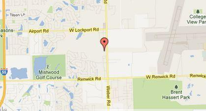 Map of the 600 block of South Weber Road in Romeoville.