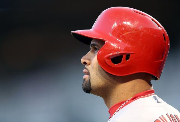 Albert Pujols does not have to worry about the reaction of fans in his former city for quite some time -- the Angels aren't due to play in St. Louis until 2016.