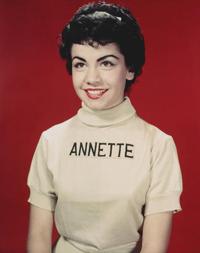 Studio portrait of American actor and Mouseketeer Annette Funicello, child star of the television show 'The Mickey Mouse Club,' circa 1955.