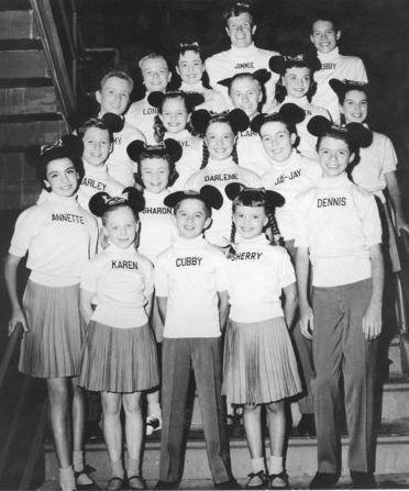 Annette Funicello, here at 14 as one of the original Mouseketeers in 1956, became one of the most popular kids on the Disney TV show.