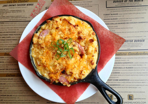 The gouda mac 'n' cheese at Jake Melnick's