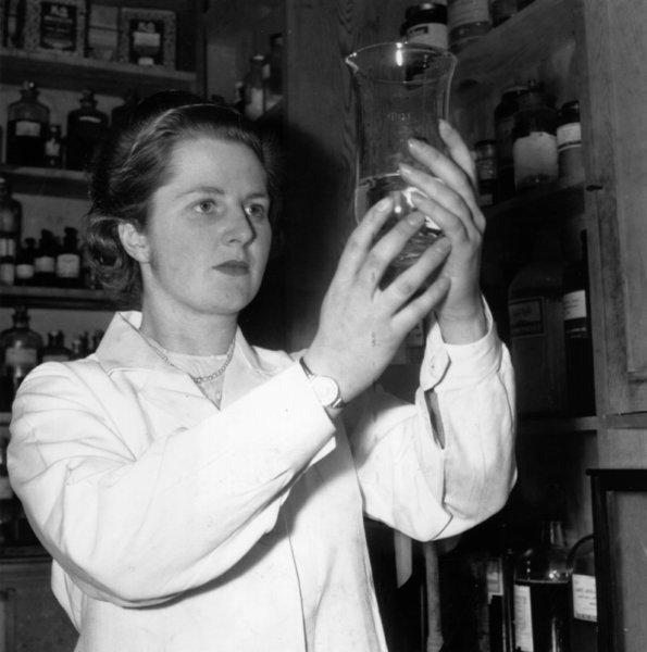 Margaret Thatcher studied chemistry at Oxford and was a food research scientist before pursuing a legal career.