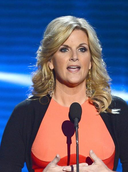 Singer Trisha Yearwood onstage during the Academy of Country Music Awards in Las Vegas.