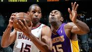 Coach Mike D'Antoni says Metta World Peace has an 80% to 90% chance of playing Tuesday night when the Lakers host the New Orleans Hornets at Staples Center.