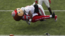 Ohio State mascot Brutus Buckeye got his chance to play quarterback for a play during Saturday's football practice with dramatic results.