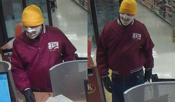 FBI: Mummy bandit commits fifth bank robbery, takes cash from North Center TCF bank. FBI photos