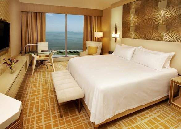 A room at the recently opened Waldorf Astoria Panama in Panama City.