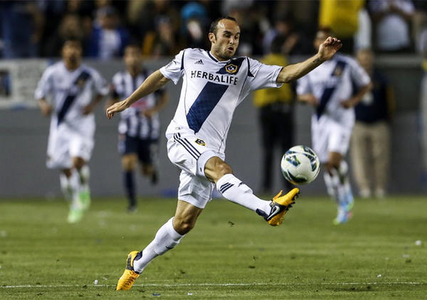Galaxy's Landon Donovan controls the ball during the second half of the previous game against Monterrey.