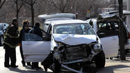 A three-vehicle crash near the south end of Jackson Park sent eight people to hospitals this afternoon, including one critically injured adult and several young children, authorities said.