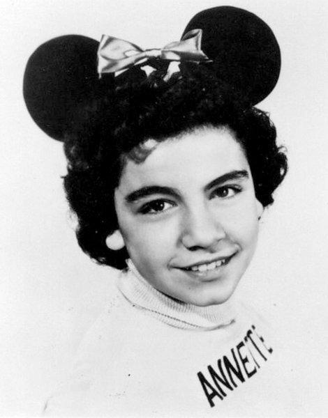 Annette Funicello, one of the original members of the Mouseketeers.
