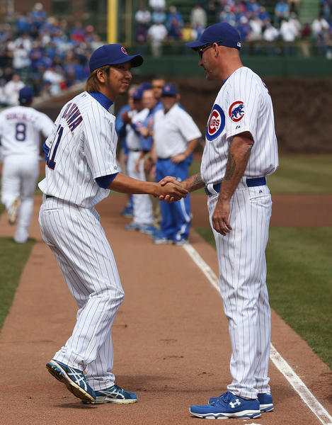 Newly minted Cubs closer Ryuji Fujikawa (left) can thank manager Dale Sveum in part for his ascension to that role.