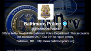 The weekend tweets from the Baltimore Police Department featured a recruiting video, an appeal reminding domestic violence victims that officers can help, and a message honoring a colleague who died 40 years ago.