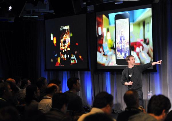 CEO Mark Zuckerberg speaks at Facebook's headquarters in Menlo Park, Calif., last week.