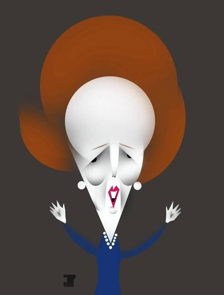 Portrait of former British prime minister Margaret Thatcher.