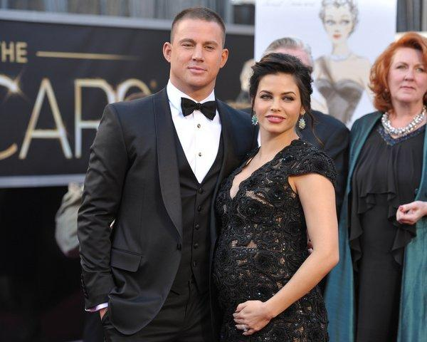 Channing Tatum's wife Jenna Dewan-Tatum, right, talks pregnancy in the May issue of Glamour magazine.