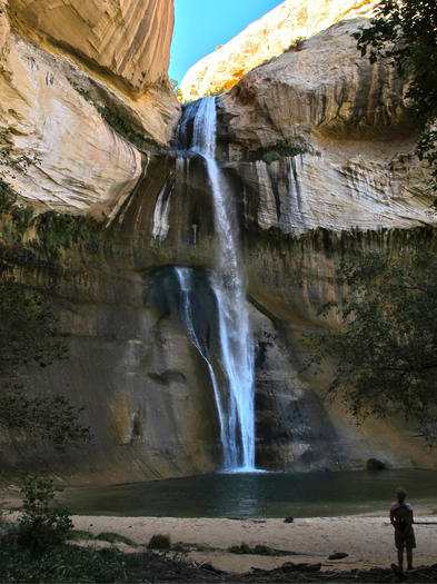 Lower Calf Creek Falls at Capitol Reef National Park