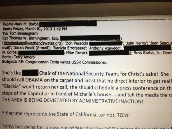 Image of an email sent by ousted hospital board chair.