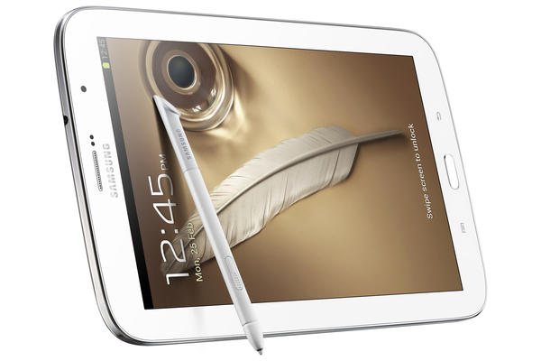 The Galaxy Note 8.0, an rival to the iPad mini, will go on sale in the U.S. this Thursday for $400.