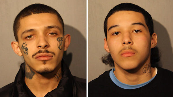 Damien Garza, 19, left, and Javier Garza, 17, were arrested and charged in connection to a murder of 14-year-old Michael Orozco that occurred on the 2200 block of South Leavitt on April 7, 2013. A third suspect in this incident was released without charging.