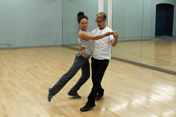 """Andy Dick and Sharna Burgess rehearse for the new season of """"Dancing With the Stars."""""""
