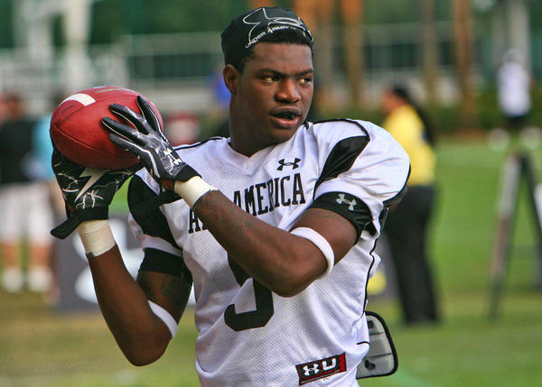 Former University of Miami commit and Palm Beach Central standout wide receiver Angelo Jean-Louis was arrested early Tuesday morning, charged with two counts of fraudulent use of an access device ¿ a felony ¿ according to the Cabell County Magistrate Mike J. Woelfel.
