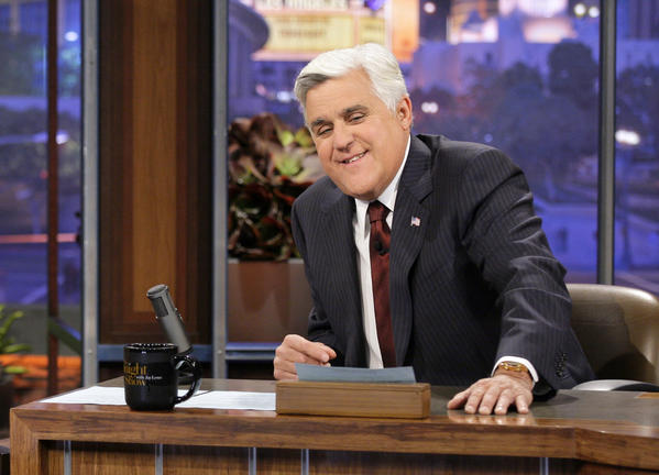 "Jay Leno, shown on set of ""The Tonight Show"" last fall, has been having some fun in recent days with Stockton."