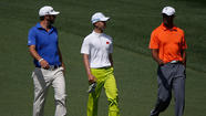 Guan Tianlang, Dustin Johnson, Tiger Woods