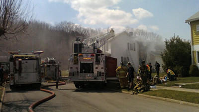 Several fire departments are on the scene of this house fire on 11th Street in Windber.
