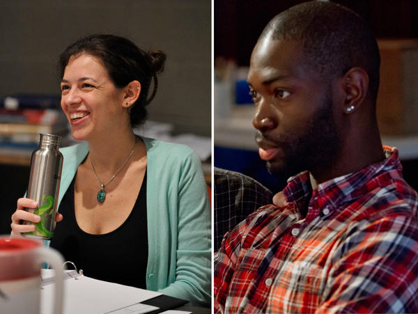 Quiara Alegra Hudes (left) and Tarell Alvin McCraney (right)