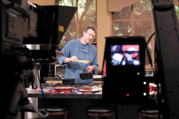 Mark Anthony leads cooking demonstrations across the country to promote healthful eating.