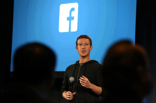 Facebook Chief Executive Mark Zuckerberg speaks during an event last week at Facebook headquarters in Menlo Park, Calif.