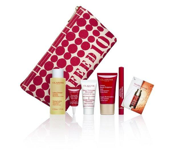 "Clarins is teaming with Macy's to give a ""Gift with Purpose."""