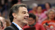 Rick Pitino Watches Women's Final