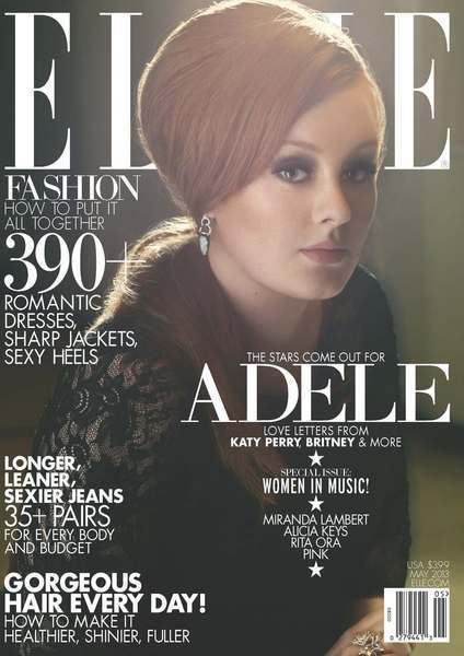 Adele appears on one of Elle's May Women in Music covers.