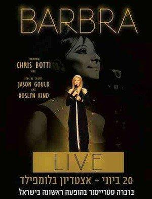Barbra Streisand is to perform two concerts in Israel in June.