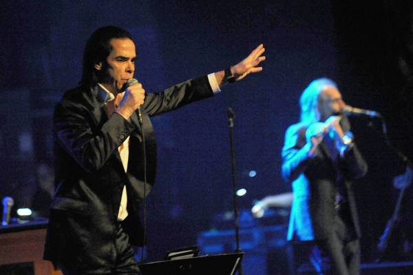 Nick Cave performs at the Beacon Theater in New York in March.